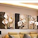 baratos Impressões-Cópias da lona rolou 3 peça wall art flor tulipas pinturas poster de parede para sala de estar
