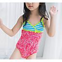 baratos Roupas de Banho para Meninas-Infantil Para Meninas Esportes Geométrica Algodão / Poliéster Roupa de Banho Vermelho