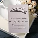 preiswerte Hochzeitseinladungen-Glatte Karte Hochzeits-Einladungen 20 - Wartekarten Geblühmter Style Perlenpapier