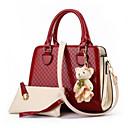 povoljno Komplet torbi-Žene Imajte / Patent-zatvarač PU Bag Setovi Kompleti za vrećice 2 kom Crn / Sky blue / Blushing Pink