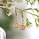 ieftine Cercei-Pentru femei Retro Cercei Picătură Diamante Artificiale cercei Κορώνα Modă Elegant Bijuterii Auriu Pentru Nuntă Petrecere 1 Pair