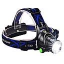 preiswerte Taschenlampen-Stirnlampen Fahrradlicht LED LED Sender 1600 lm 3 Beleuchtungsmodus inklusive Batterien und Ladegerät Zoomable-, Wasserfest, einstellbarer Fokus Camping / Wandern / Erkundungen, Für den täglichen