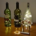 abordables Guirlandes Lumineuses LED-2m Guirlandes Lumineuses 20 LED LED Dip Blanc Chaud / Blanc Froid / Plusieurs Couleurs Design nouveau / Décorative / Mariage Batteries alimentées 1 set