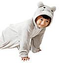 preiswerte Kuscheltiere & Plüschtiere-Kinder Kigurumi-Pyjamas Katze Totoro Pyjamas-Einteiler Flanell Vlies Grau Cosplay Für Jungen und Mädchen Tiernachtwäsche Karikatur Fest / Feiertage Kostüme