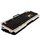 זול מגפיים לגברים-LITBest Bloody USB חוטית מקלדת מכאנית מקלדת Gaming גיימינג זורח תאורה אחורית בצבע רב 104 pcs מפתחות
