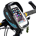 cheap Bike Frame Bags-ROCKBROS Cell Phone Bag Bike Frame Bag Top Tube Bike Handlebar Bag Touch Screen Reflective Waterproof Bike Bag TPU EVA Polyster Bicycle Bag Cycle Bag iPhone X / iPhone XR / iPhone XS Road Bike