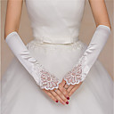 cheap Party Gloves-Satin Elbow Length Glove Classic Style / Lace With Embroidery / Solid