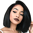 cheap Human Hair Wigs-Human Hair Lace Front Wig Bob style Brazilian Hair Straight Wig 130% Density with Baby Hair 100% Virgin Women's Short Human Hair Lace Wig