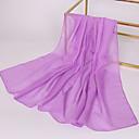 זול סט תכשיטים-צעיף מלבני - אחיד שיפון בסיסי בגדי ריקוד נשים / בד