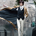 levne Anime Costumes-Inspirovaný Bungo Stray Dogs Cookie Anime Anime Cosplay kostýmy Cosplay šaty Jednobarevné Dlouhý rukáv Nákrčník / Kabát / Vesta Pro Pánské / Dámské