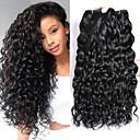 זול תוספות משיער אנושי-4 חבילות שיער ברזיאלי Water Wave שיער בתולי אביזר לשיער טווה שיער אדם טיפוח שיער 8-28 אִינְטשׁ צבע טבעי שוזרת שיער אנושי רך איכות מעולה מכירה חמה תוספות שיער אדם