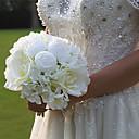 economico Bouquet sposa-Fiori Artificiali 1 Ramo Classico Matrimonio Bouquet sposa Rose Fiori da tavolo