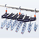 cheap Jewelry & Cosmetic Storage-Plastic Portable / Multi-function / Foldable Socks / Clothing / Underwear Hanger, 1pc