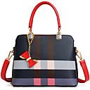 povoljno Tote torbe-Žene Patent-zatvarač PU Tote torbica Geometrijski uzorak Braon / Plava / Jesen zima