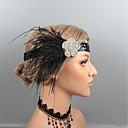 hesapli Parti Başlıkları-Tüyler Headbands / Başlık ile Taşlı / Kristal / Tüy 1 parça Düğün / Parti / Gece Başlık