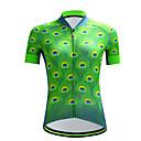 tanie Stroje rowerowe-cheji® Damskie Krótki rękaw Koszulka rowerowa - Zielony Rower Dżersej Sport Włókno mleczne Kolarstwo górskie Kolarstwie szosowym Odzież