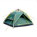 זול אוהלים וסככות-Sheng yuan 4 איש משפחה אוהל קמפינג חיצוני עמיד מוגן מגשם נשימה שכבה כפולה עמוד קמפינג אוהל 2000-3000 mm ל מחנאות / צעידות / טיולי מערות בד אוקספורד 230*180*130 cm
