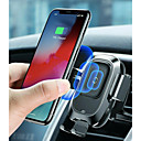 billige Setetrekk til bilen-baseus qi bil trådløs lader air vent automatisk monteringsholder for iphone 8 plus xr x xs max samsung galaxy s10 s10 + s10e s9 s8 intelligent infrarød sensor rask trådløs lading