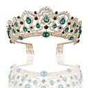 preiswerte Parykopfbedeckungen-Krystall / Aleación Tiaras mit Kristall 1 Stück Hochzeit / Freizeitskleidung Kopfschmuck