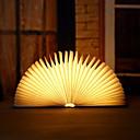 ราคาถูก ไฟเพดาน-1 ชิ้นแบบพกพา usb ชาร์จไฟกลางคืนตกแต่งหนังสือไม้ led โคมไฟพับอบอุ่นสีขาวเตียงโคมไฟโคมไฟตั้งโต๊ะสร้างสรรค์ของขวัญ