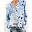 cheap Running Shirts, Pants & Shorts-Women's Plus Size Shirt - Geometric Print V Neck Blue XXXL