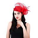povoljno Kentucky Derby Hat-Net / Posteljina / pamuk Blend Kentucky Derby Hat / Fascinators / Cvijeće s Perje 1 komad Vjenčanje / Zabava / večer Glava