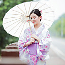 cheap Ethnic & Cultural Costumes-Geisha Adults' Women's Kimonos Outfits Japanese Traditional Kimono Bathrobe For Halloween Daily Wear Festival Cotton / Linen Blend Kimono Coat Waist Belt