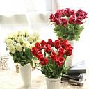 halpa Tekokukat-Keinotekoinen Flowers 1 haara Klassinen Eurooppalainen Ruusut Eternal Flowers Pöytäkukka
