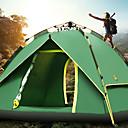 رخيصةأون مفارش و خيم و كانوبي-Sheng yuan 4 شخص خيمة التخييم العائلية في الهواء الطلق ضد الهواء مكتشف الأمطار التنفس إمكانية طبقات مزدوجة أوتوماتيكي خيمة التخييم >3000 mm إلى Camping / Hiking / Caving قماش اكسفورد 213*215*135 cm