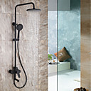 cheap Shower Faucets-Shower Faucet - Antique Chrome / Painted Finishes Wall Mounted Ceramic Valve Bath Shower Mixer Taps