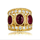 cheap Rings-Women's Red Cubic Zirconia Classic Ring thumb ring Gold Plated Asian Fashion Ring Jewelry Gold For Party Daily 6 / 7 / 8 / 9 / 10