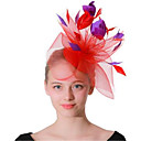 levne Ozdoby do vlasů na večírek-Dámské / dámy Vintage / Party / Elegantní Kdo okouzluje - Květinový Peří / Látka / Diadémy
