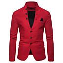 abordables Zapatillas de Deportiva de Hombre-Hombre Blazer, Un Color Escote Chino Algodón / Poliéster Rojo / Azul Marino / Caqui L / XL / XXL