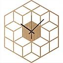 levne Nástěnné hodiny-kostka inspirované dřevěné nástěnné hodiny