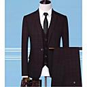 ieftine Pilotă de lux-Bărbați Costume, Mată Rever Peaked Poliester Albastru piscină / Negru / Roșu-aprins XXL / XXXL / XXXXL