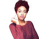 preiswerte Kappenlos-Menschliches Haar Capless Perücken Echthaar Afro Kinky / Afrikanische Locken Kurzer Bob / Kurze Frisuren 2019 Modisches Design / Schlussverkauf / Komfortabel Schwarz Kurz Kappenlos Perücke Damen