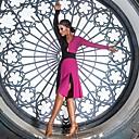 preiswerte Kleidung für Lateinamerikanischen Tanz-Latein-Tanz Kleider Damen Leistung Elasthan Horizontal gerüscht / Kombination Langarm Kleid