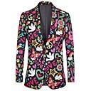ieftine Cămăși-Bărbați Costume Jacket Floral / Scrisă Imprimeu