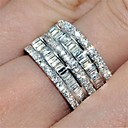 voordelige Ring-Dames Ring / Eternity Ring / draaiende ring Kubieke Zirkonia 1pc Zilver Messinki Rond Modieus / Iced Out Bruiloft / Feest / Dagelijks Kostuum juwelen