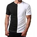 povoljno Muške tenisice-Majica s rukavima Muškarci Color block Okrugli izrez Slim, Kolaž Red