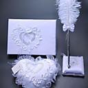 povoljno Cvijeće za vjenčanje-Vjenčanje Knjiga gostiju / Set olovaka / ring pillow S Perje / Čipka Čipka / Kutije za skladištenje