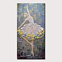 levne Abstraktní malby-Hang-malované olejomalba Ručně malované - Abstraktní Lidé Moderní Obsahovat vnitřní rám