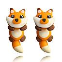 preiswerte Ohrringe-Damen Tropfen-Ohrringe Ohrring Ohrringe Fuchs Tier nette Art Für Kinder Schmuck Orange Für Alltag Verabredung 1 Paar