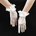 halpa Juhlahanskat-Silmukka Rannepituus Glove Vintage tyyli / Romanttinen Kanssa Faux Pearl / Kukkakuvio / Röyhelöity