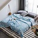 رخيصةأون بطانيات و حرامات-بطانيات السرير, لون سادة قطن ناعم مريح نعومة فائقة بطانيات