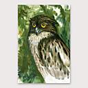 abordables Peintures d'Animaux-Peinture à l'huile Hang-peint Peint à la main - Abstrait Moderne Inclure cadre intérieur