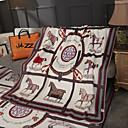baratos Cobertores e Mantas-Cama Cobertores / Cobertores Multifuncionais, Desenho Animado / Floral / Botânico Poliéster Aquecedor Macio Confortável cobertores