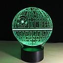 cheap Décor Lights-Death Star 3D illusion Night Light LED 7 Color Change Desk Table Lamp Lighting Decor 5V