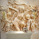 halpa Tapetit-tapetti / Seinämaalaus Kangas Seinäpinnat - liima tarvitaan Art Deco / Kuvio / 3D