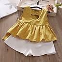 levne Sady oblečení-Děti Dívčí Šik ven Puntíky Bez rukávů Standardní Standardní Polyester Sady oblečení Žlutá